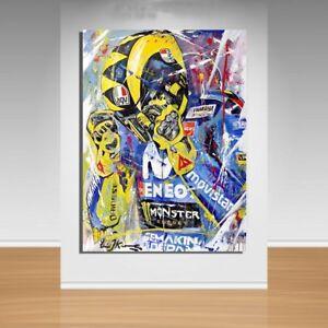 Moto GP Canvas Wall Art - Valentino Rossi