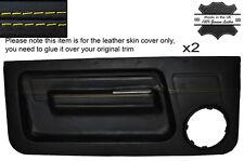 Yellow Stitch 2x ANTERIORE PORTA CARD Pelle copre gli accoppiamenti RENAULT 5 GT TURBO Phase 1 MK1