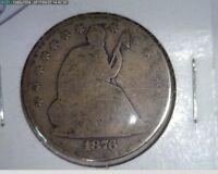 1876 50C Seated Liberty Half Dollar ( 66s219 )