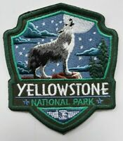 YELLOWSTONE PARK EMBROIDERED PATCHES THE LONE WOLF SOUVENIRS