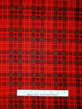 Christmas Plaid Fabric - Dark Red Green Holiday Wishes by Sara Morgan - YARD