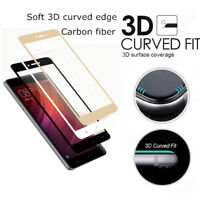 2Pcs Black Carbon Fiber 3D Curved Full Cover Tempered Glass For Xiaomi Redmi 4X