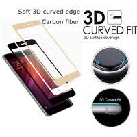 2Pcs Black Carbon Fiber 3D Curved Full Cover Tempered Glass For Xiaomi Redmi 4X
