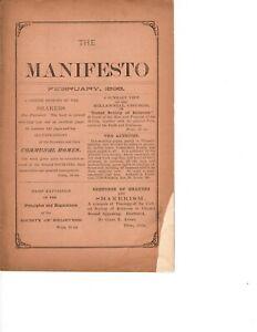 Shaker Manifesto, February 1898