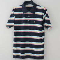 A Bathing Ape BAPE Mens Medium Multi Color Made In Japan Striped Polo Shirt K127