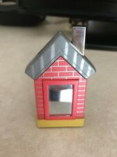 Vintage Cigarette Lighter House With Mirror Window Red, Yellow And Gray Novelty