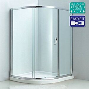 1000 x 1000mm Single Door Quadrant Enclosure 6mm Easy Clean Glass