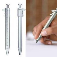 Multifunction Pen Shape Plastic Silver Vernier Caliper Measuring Ruler Tool Z9Q9