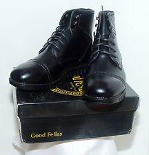 Good Fellas 9521-1E Black Laced Cap Toe Dressy Ankle Boots Men size 3