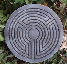Labyrinth meditation plaque mold plastic concrete plaster mould