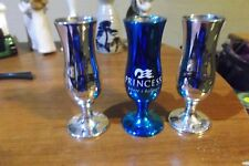 set  of 3 princess  shot  glassess