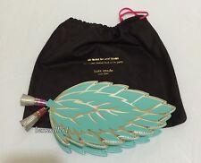 New Kate Spade Mint Leaf Crossbody Bag Purse Clutch PXRU7575