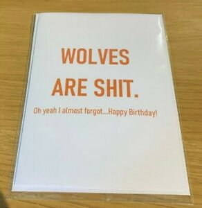 Funny Wolves Birthday Card