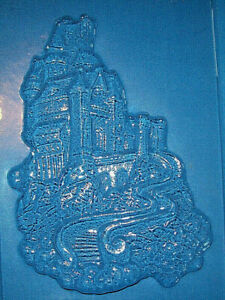 ONE LARGE CASTLE ON A HILL CHOCOLATE MOULD OR PLASTER MOULD