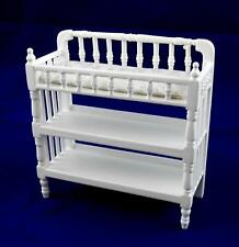 Dolls House White Victorian Baby Changing Table Miniature Nursery Furniture