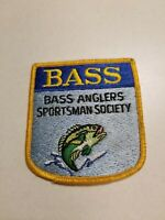 Vintage BASS Bass Anglers Sportsman Society Patch, Fishing Collectible