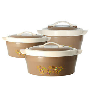 Delcasa 3 Piece Hot Pot Food Warmer Storage Serving Dishes Insulated Casserole