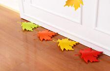 Red Maple Autumn Leaf Style Home Decor Finger Safety Door Stop Stopper DRUK
