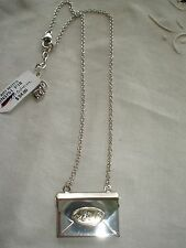 """Brighton """"Heart Notes"""" Hanging Chain Necklace NWT Silver 16"""" L Chain w/2"""" Ext."""
