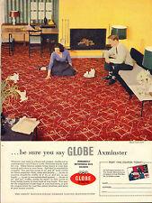 "original large colour advert ""  globe axminster carpet   "" 1959"