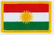 AUFNÄHER Patch FLAGGEN flagge Kurden Kurdistan Fahne 7x4.5cm