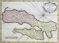Ambon Island Indonesia 1762 Maluku Amboine by van der Schley, Bellin antique map