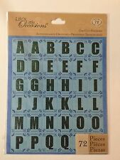BLUE CONTEMPORARY ALPHABET Die-Cut Stickers(72pc)Life's Little Occasions