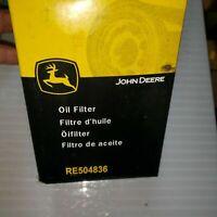 John Deere Original Equipment Oil Filter #RE504836 RE 504836