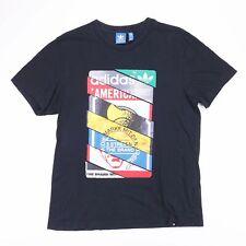 ADIDAS Black Graphic Print Sports T-Shirt Size Men's Large