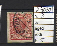 FRANCOBOLLI ITALIA COLONIE EGEO RODI USATI N°3 (A5030)