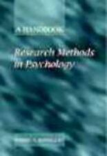Psychology: Research Methods in Psychology : A Handbook by Wendy A....