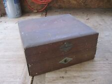 Wm.Rogers Very Old Small Square Flatware Chest, 2 Sections, NEEDS RESTORATION