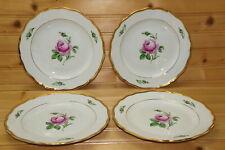 "Meissen Pink Rose (4) Salad Plates, 7 7/8"""