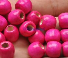 50pcs 100pcs wood beads big hole charms Wooden loose bead 12 colors u pick 12mm