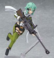 "Anime Sword Art Online II Asada Shino Sinon 6"" Figma PVC Figure 241 New with Box"