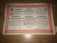 Bond Loan Moscow-Jaroslaw-Archangel Russia 1897 Railway Share 2000 Marks