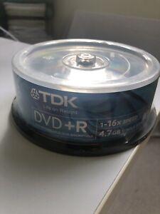 TDK 25 pack DVD + R 16x 120 min 4.7gb  Brand new sealed