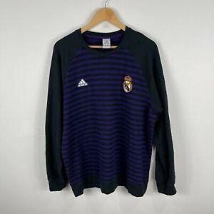 Adidas Barcelona FC Jumper Mens XL Black Purple Striped Long Sleeve 21.22
