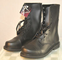 Rothco Black Leather Combat Boot Mens Sizes 5 - 8 Style 5075 Steel Shank
