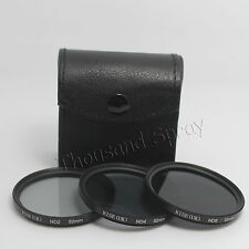 52MM ND Filter Set ND2 ND4 ND8 Neutral Density for Nikon D7200 D5200 D3200 D3100