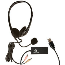 Nuance Dragon Headset with Microphone and USB Adapter - New!