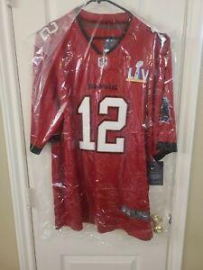 Tom Brady #12 Tampa Bay Buccaneers Super Bowl Jersey Size L Large Bucs