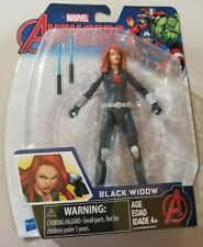 "Marvel Avengers Black Widow 6"" Action Figure Hasbro jointed figurine with sword"