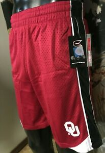 new OU Oklahoma Sooners Athletic Shorts Youth Boys S 8-10 L 16-18 XL Collosseum