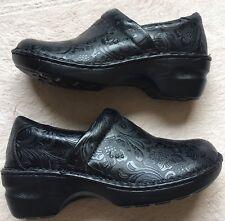 B.O.C. Born Women's Adalynn Clog Slip On Shoes, Size 7.5, Black, Floral Texture