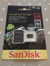 Original Sandisk Elite Microsd tarjeta 128GB 4K UHD velocidad hasta 95MB/s