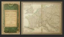 1826, FOLDING MAP of CENTRAL EUROPE, Whittle & Laurie_Post-Napoleonic War Treaty
