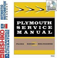 1957 1958 Plymouth Belvedere Fury Savoy Shop Service Repair Manual CD OEM Guide