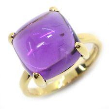 Auth Tiffany & Co. Sugar Stacks Amethyst Ring 750(18K) Yellow Gold US6.5