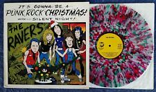 "RAVERS - IT'S GONNA BE A PUNK ROCK XMAS - RHINO - 12"" EP - CLEAR, RED, GREEN WAX"
